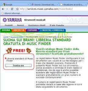 Music Finder con titoli originali delle canzoni