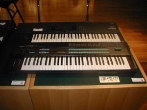 Korg M1 + Yamaha DX7