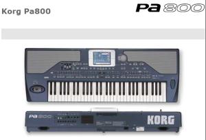 Korg PA800 - Arranger workstation
