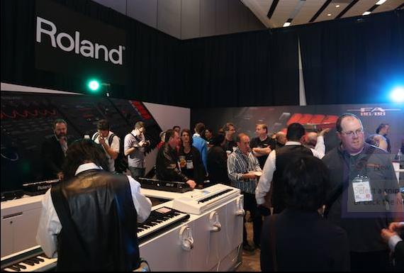 Stand Roland al Winter NAMM 2014