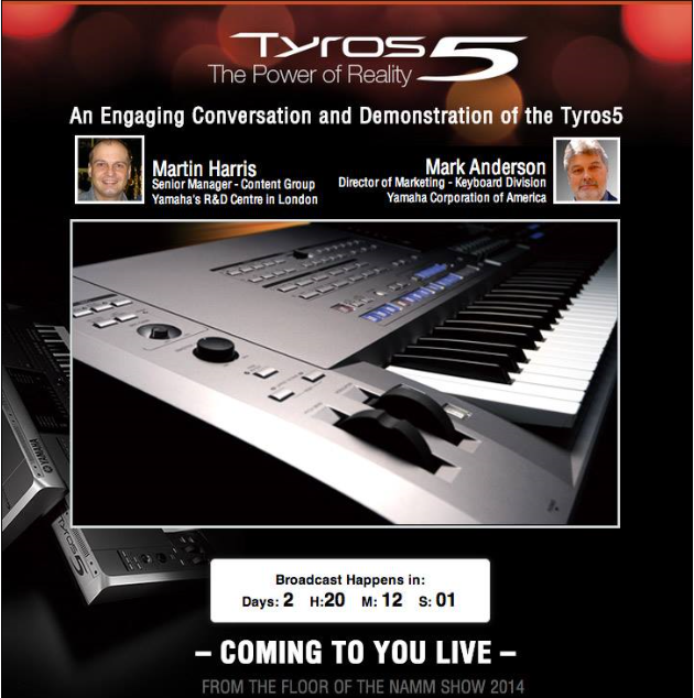 Presentazione Yamaha Tyros5 al Winter NAMM 2014