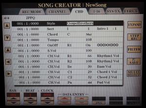Pagina CHD di Song Creator