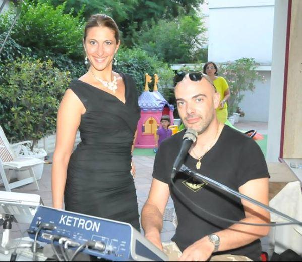 Due bravi musicisti: Marco Bacchetta e Pamela Crola. Osservate Ketron MIDJPRO in primo piano