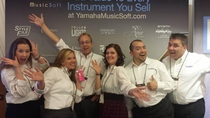 La simpatia della squadra di Yamaha MusicSoft al Winter NAMM 2015