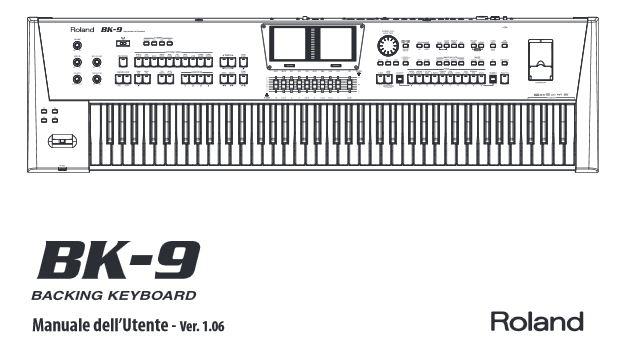 Frontespizio del manuale di Roland BK-9