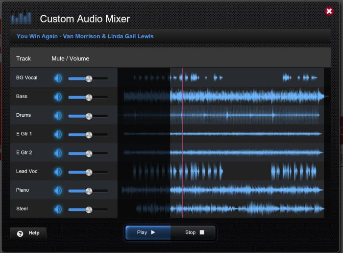 Mixer audio per le basi audio multi traccia