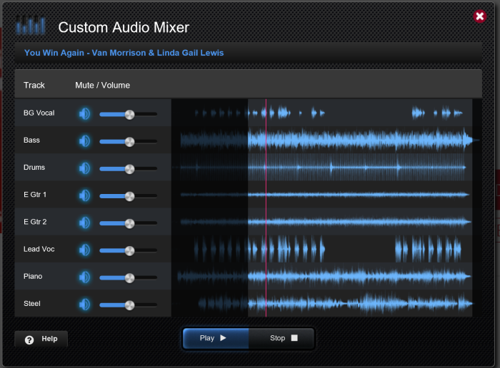 Mixer audio per le basi audio multi traccia