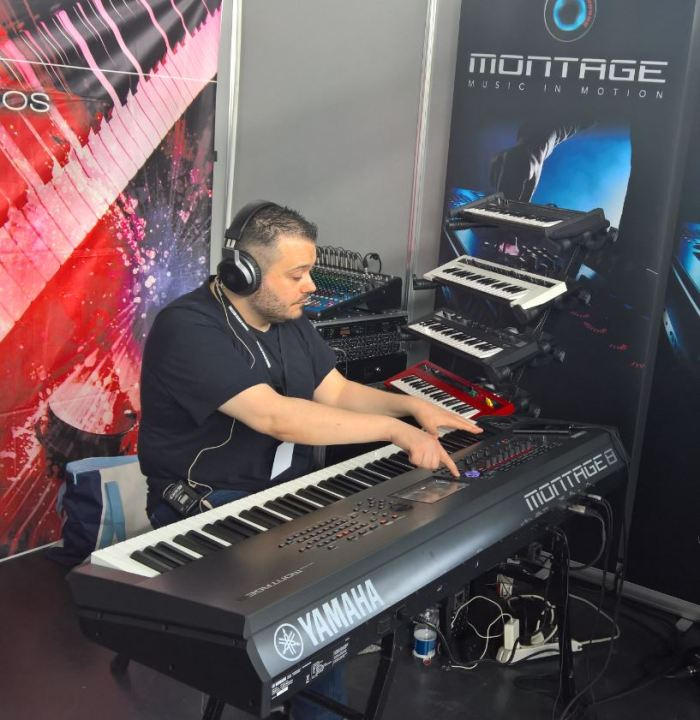 Manuele Montesanti suona Yamaha Montage